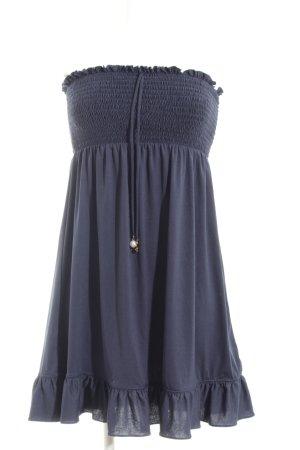 Juicy Couture Bandeaukleid blau Casual-Look