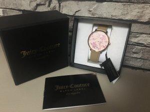 Juicy Couture Black Label Armbanduhr Damen Uhr Blumen Echt Leder
