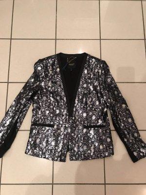 Juicy Couture Blazer de esmoquin color plata-negro