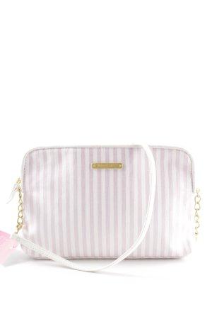 Juicy Couture Clutch rosa-weiß Streifenmuster