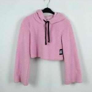 Juicy Couture Cropped Sweatshirt Gr. XS pink Teddyfleece (19/09/321)
