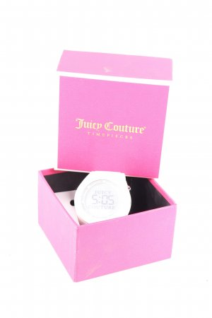 Juicy Couture Reloj digital blanco estilo deportivo