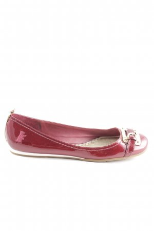 Juicy Couture faltbare Ballerinas rot-goldfarben Casual-Look