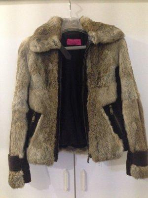 Juicy Couture Giacca di pelliccia marrone chiaro