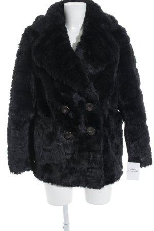 Juicy Couture Fur Jacket black extravagant style