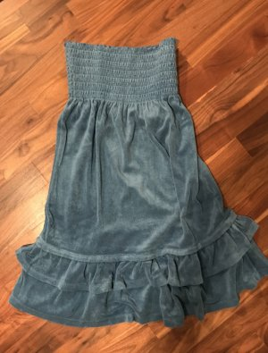 Juicy Couture Frottee Bandeaukleid in blau, Gr. M