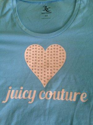 Juicy Couture Gr XS in blau Herz Glitzersteine Neu