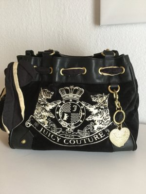 Juicy Couture Carry Bag black-gold-colored