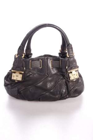 Juicy Couture Handtasche schwarz Logo-Applikation aus Metall