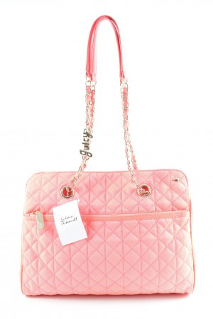 Juicy Couture Carry Bag neon red quilting pattern casual look
