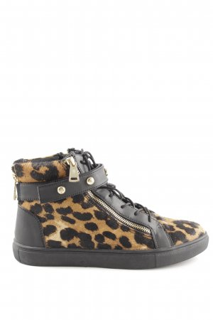 Juicy Couture High Top Sneaker hellorange-schwarz Animalmuster Casual-Look