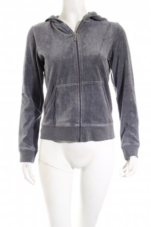 Juicy Couture Jacke grau-pink Glitzer-Optik