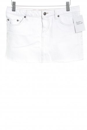 Juicy Couture Jeansrock wollweiß Casual-Look