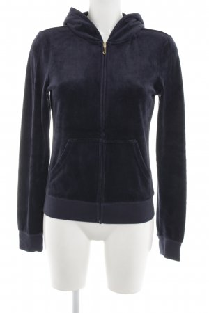 Juicy Couture Kapuzenjacke schwarz-goldfarben Motivdruck Casual-Look