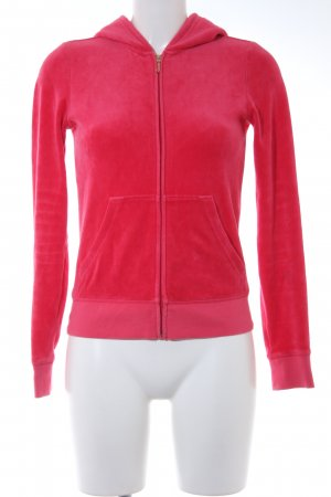 Juicy Couture Kapuzenjacke himbeerrot Motivdruck Casual-Look