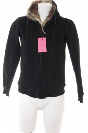 Juicy Couture Kapuzenjacke schwarz-hellbraun Casual-Look