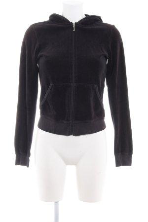 Juicy Couture Giacca con cappuccio nero stile atletico