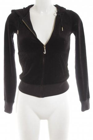 Juicy Couture Kapuzensweatshirt schwarz sportlicher Stil