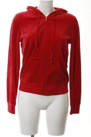 Juicy Couture Kapuzensweatshirt rot Kuschel-Optik