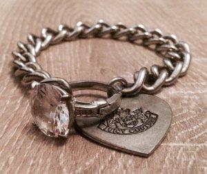Juicy Couture - Kettenarmband mit großem Ringverschluss und Herzanhänget