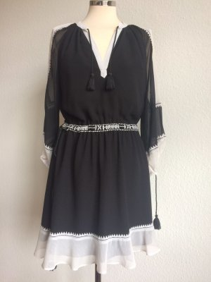JUICY COUTURE Kleid Dress Boho schwarz natur Gr.XS! So gut wie NEU!