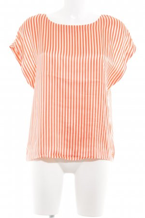 Juicy Couture Kurzarm-Bluse dunkelorange-creme Streifenmuster Casual-Look