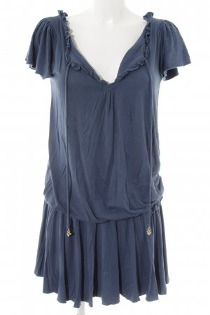 Juicy Couture Kurzarmkleid stahlblau Casual-Look