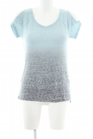 Juicy Couture Jersey de manga corta turquesa-gris claro degradado de color