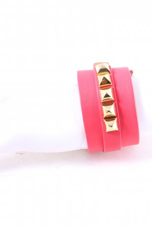 Juicy Couture Lederarmschmuck goldfarben-pink Street-Fashion-Look