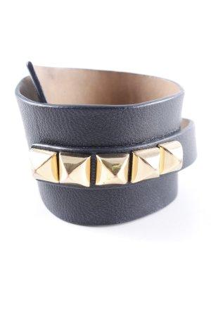 Juicy Couture Bracelet en cuir noir élégant