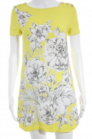 Juicy Couture Midikleid gelb florales Muster Casual-Look