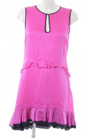 Juicy Couture Midikleid neonpink-schwarz 80ies-Stil