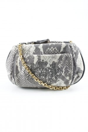 Juicy Couture Mini Bag grey brown-cream abstract print party style