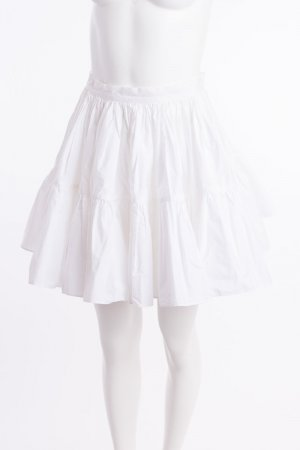 Juicy Couture Circle Skirt white-gold-colored cotton