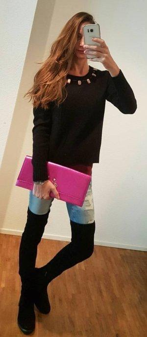Juicy Couture Pullover sweater aus Wolle und Alpaka mit Schmucksteinen