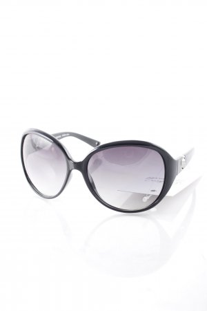 Juicy Couture runde Sonnenbrille schwarz Retro-Look