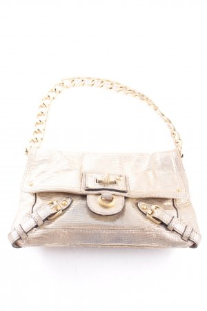 Juicy Couture Schultertasche goldfarben Metallic-Optik