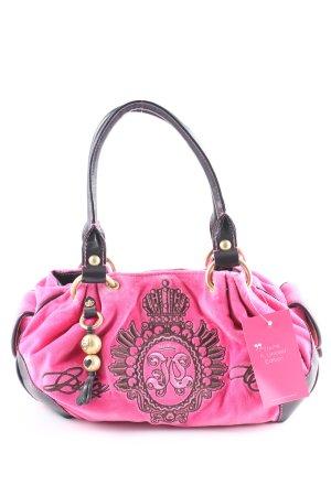Juicy Couture Schultertasche pink-schwarzbraun extravaganter Stil