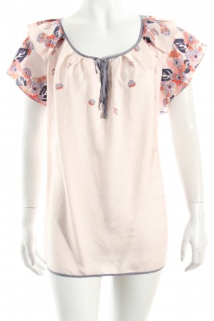 Juicy Couture Seidenbluse rosé-grauviolett Blumenmuster Romantik-Look