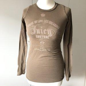 Juicy Couture Shirt Gr S khaki Frontprint longsleeve