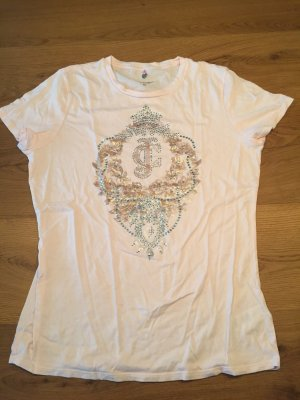 Juicy Couture Shirt in Puderrosa mit Strass Deko