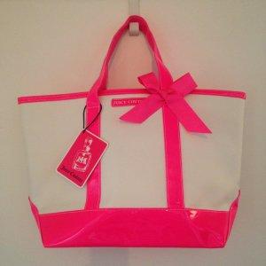 Juicy Couture Shopper Tasche neu mit Etikett weiß/pink