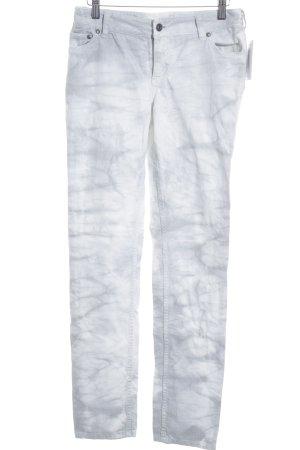 Juicy Couture Slim jeans wit-lichtgrijs batik patroon casual uitstraling