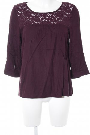 Juicy Couture Blusa in merletto rosso mora stile casual