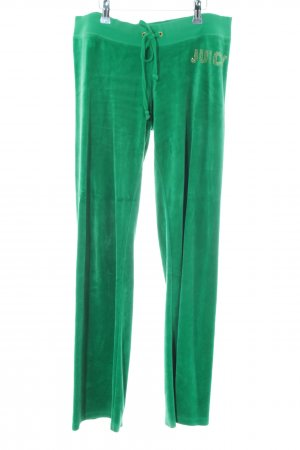 Juicy Couture Sporthose grün Kuschel-Optik
