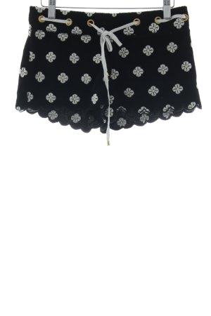 Juicy Couture Sportshorts schwarz-weiß Blumenmuster sportlicher Stil