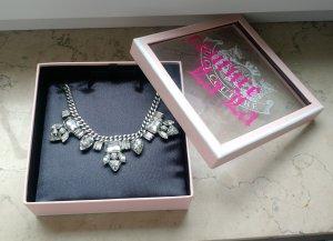 Juicy Couture Statement Kette Halskette Kristalle necklace modeschmuck JC