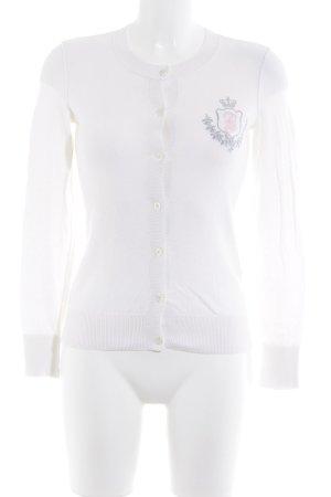 Juicy Couture Strickjacke wollweiß-rosé Casual-Look
