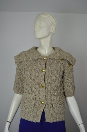 Juicy Couture, Strickpullover, beige, Kurzarm, Gr. S