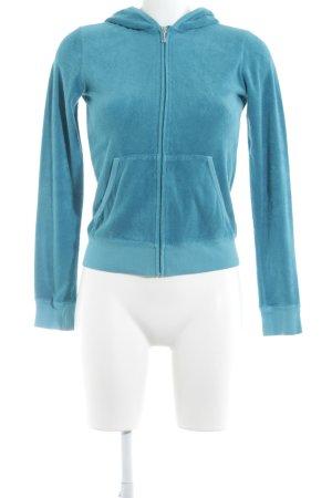 Juicy Couture Smanicato lavorato a maglia blu cadetto soffice